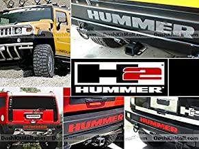 S.F. Products Hummer H2 Rear Bumper Letter Insert Not Decals - Red