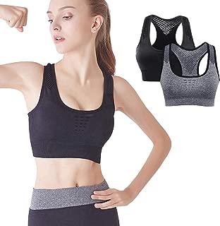 Womens Super Elastic Push up Sports Bras High Impact Workout Gym Bra