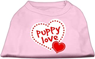Mirage Pet Products 14-Inch Puppy Love Screen Print Shirt for Pets, Large, Light Pink
