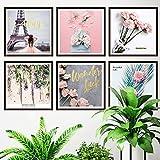 Pegatinas de pared chica corazón hostal París papel pintado pintura autoadhesiva sala de estar cálida