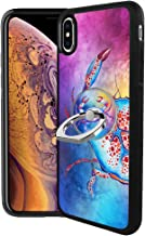 iPhone Xs Max Case with Ring Holder Stand Multi-Function Cover with Rotating Ring Holder Stand Kickstand Colorful Crab Case for iPhone Xs Max