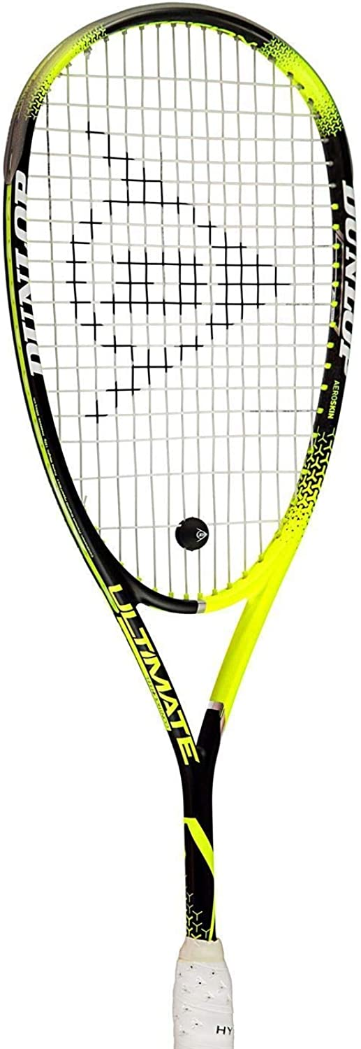 Official Brand Dunlop Precision Ultimate Squash Racket Mens Yellow Black Indoor Sports Racquet