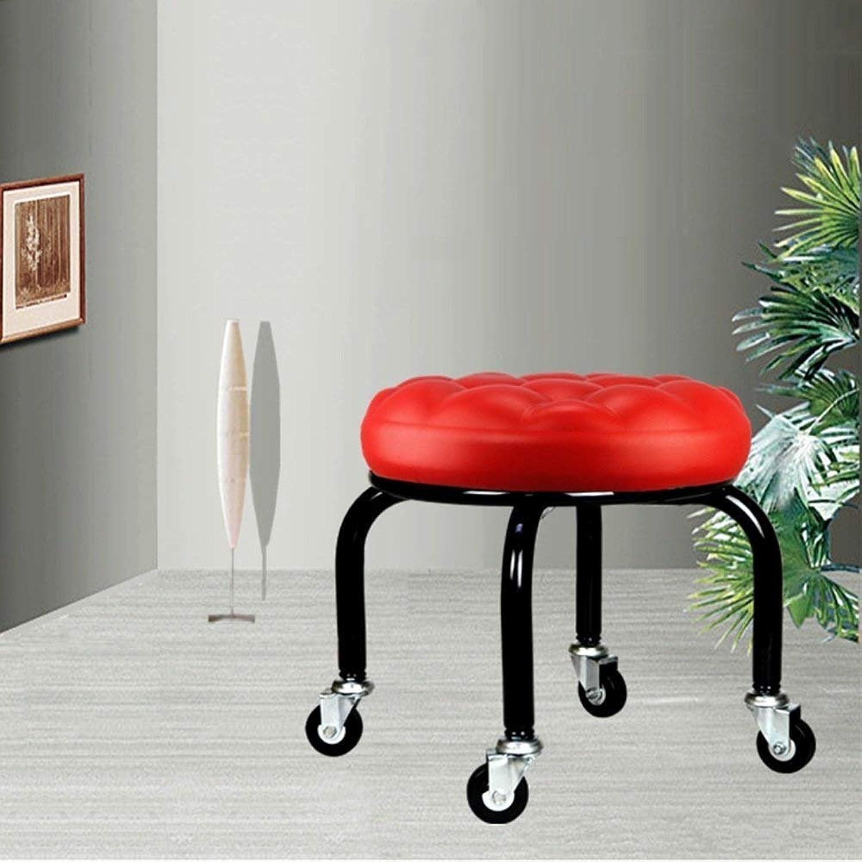 SED Creative Small Stool Round Stool Footstool Change shoes Stool Living Room Sofa Stool Pulley Stool Nail Sofa Stool (color Optional), 10