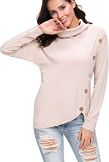 levaca Womens Loose Casual Tunic Tops Long Sleeve Sweatshirt Blouse Shirts