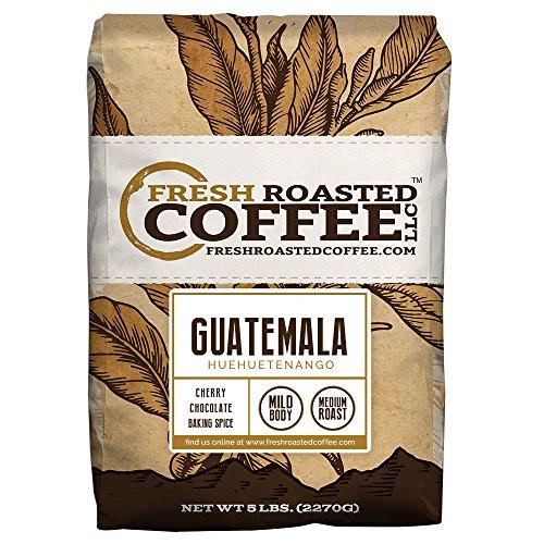 Fresh Roasted Coffee LLC, Guatemalan Huehuetenango Coffee, Medium Roast, Whole Bean, 5 Pound Bag
