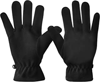 Windproof Thermal Gloves for Men and Women, Polar Fleece Winter Gloves Warm for Running Cycling Driving