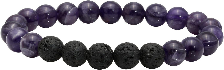 MILAKOO Recommendation 8MM Beads Bracelet for Men NEW Rock Women Reiki Lava Yoga He