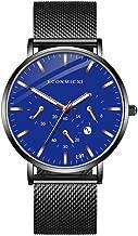 LayTmore Chronograph Watch Men's Fashion Minimalist Wrist Watch Analog Date with Stainless Steel Mesh