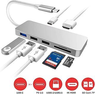 プロランキングUSBタイプCハブ7in1USBCハブ4KHDMI出力PD充電対応USB3.0ハブSD /マイクロ..購入