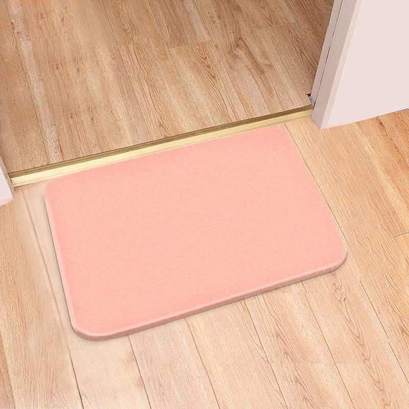 LIUCS Diatom Mud Mat Non Slip Water Absorbing And Quick Drying Floor Mat Of Bathroom Toilet Door 60cmx40cmx0 9cm