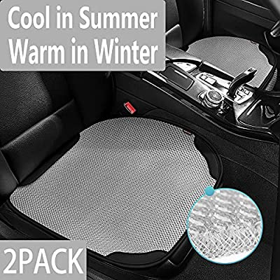 hikeaglauto Car Seat Covers Cushion Pad Mat 2PCS for Auto 3D Breathable Universal Four Seasons Supplies Anti-Slip, Cool Seat Cover for Summer (2Pcs Gray)