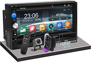 CarThree Bluetooth Car Stereo 7 Touch mirrorlink Double Din Car Stereo for subwoofer MP5 Player Autoradio Bluetooth Rear View Camera Tape Recorder