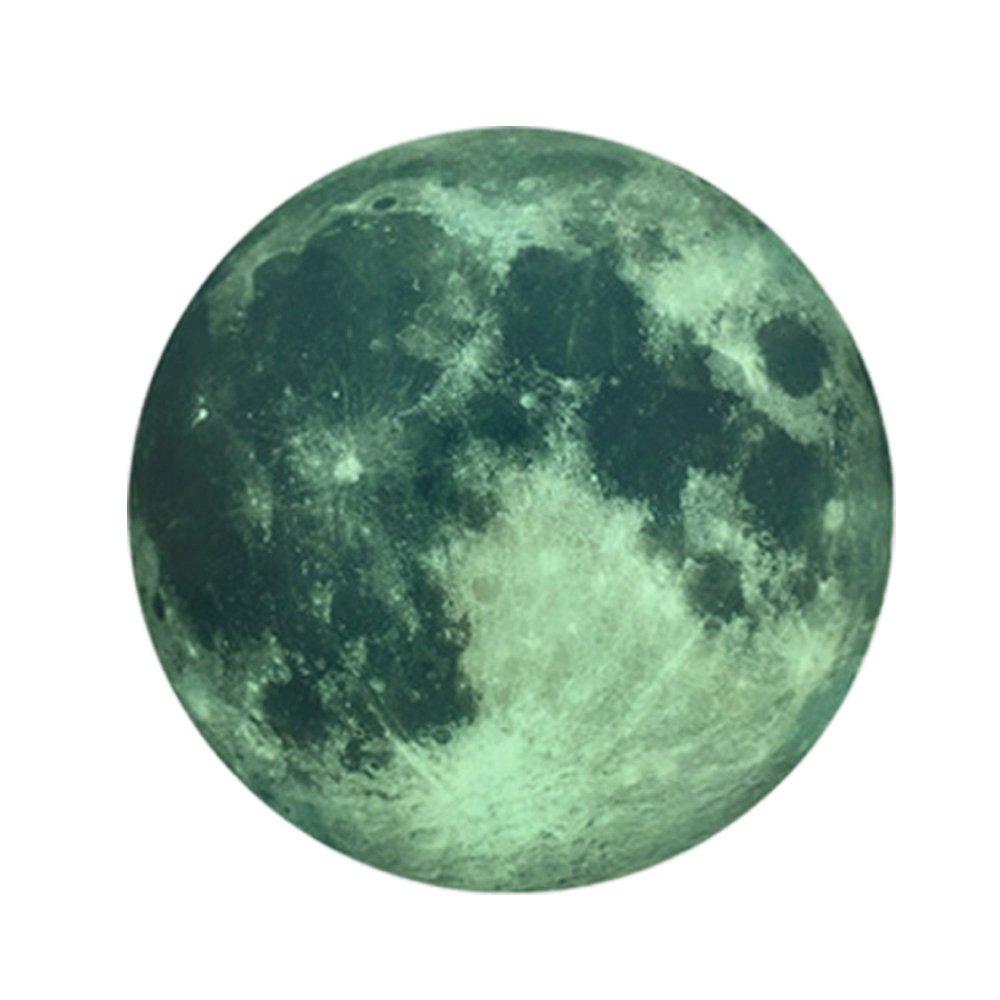 Decoración de la Luna Luminosa Pegatinas fe Arte, Romántica Habitación de Jardín de Infantes Etiqueta Engomada Fluorescente, Inicio Creativas Pegatinas de Pared: Amazon.es: Hogar