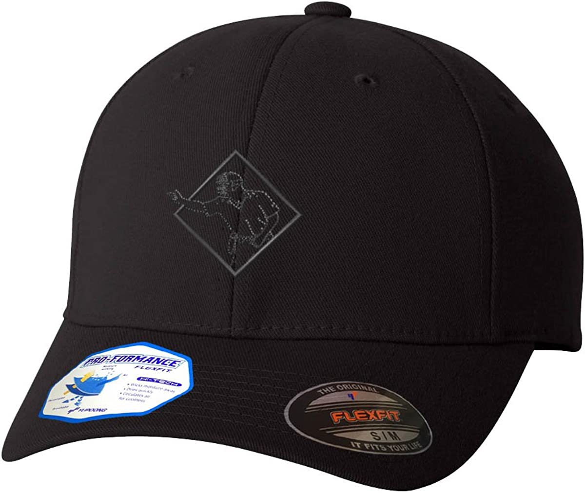 Baseball Umpire Flexfit Max 84% OFF Adult All items in the store Pro-Formance Black Sma Branded Hat
