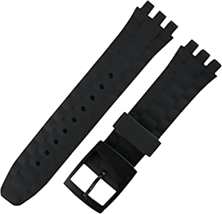 Silicone Rubber Strap Replacement for Swatch 21mm Watch Band