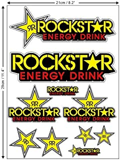 <h2>1 Set 10 Aufkleber Rockstar Sticker Autocollant Motocross  plus TOPHEADS© Eyewear Sticker  BMX Auto Car Bike JDM DUB Tuning Racing</h2>