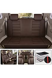 muchkey Upgraded 7 Seats All Season Leather Car Seat Cover Full Set Waterproof for Seat eperience alhambra with Headrest Neck Pillow /& Lumbar Support Back Cushion Style F black