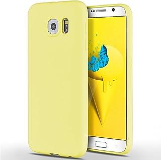 SpiritSun Samsung Galaxy S6 Hülle, Transparent Handy Hülle für Samsung Galaxy S6 Weich TPU Silikon Schutzhülle Niedlichen Muster Schale Tasche Ultradünnen Etui Anti stoß Kratzfeste Case Cover   Gelb