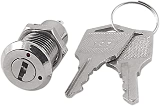 Uxcell a11112200ux0536 Electric 2 Positions ON Off Metal Keylock Switch w Keys