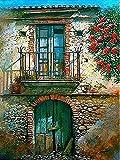 Pintura por número Kits de lienzo para puerta Imagen para sala de estar Decoración del hogar Pintura por números Paisaje Regalo único A13 40x50cm
