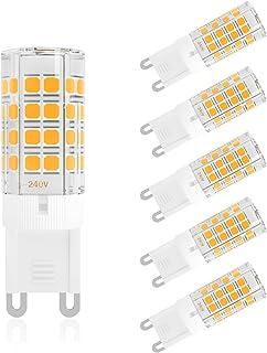 DiCUNO G9 LED電球 ハロゲン電球 40W相当 4W 450lm 非調光 セラミック 電球色 3000K 省エネ 6個入り