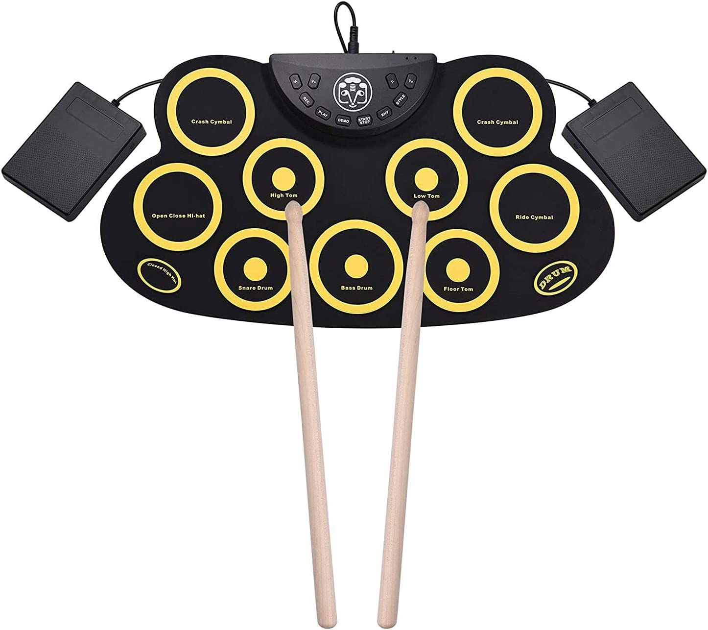WPHGS Bluetooth Electric Drum Set for Up Ranking TOP13 Roll Regular store Beginner Portable