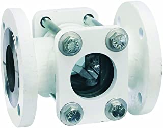 Dwyer Midwest Series SFI-360FSS Sight Flow Indicator, Double Window, 316 Stainless Steel Body, 316SS Flapper, 1-1/2
