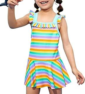 Girls Kids Swim Bow Pleated Skirt UPF 50+ Sun Protection Swimwear Swimsuit Sunsuit