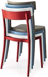 Connubia Argo - Juego de 4 sillas, color negro