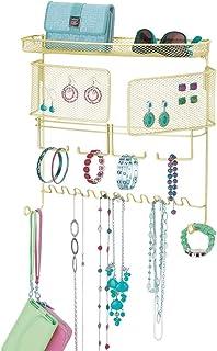 mDesign Colgador de joyas – El perfecto joyero organizador para pendientes y otros accesorios – Colgador ideal para colgar...