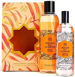 The Body Shop Indian Night Jasmine Set Of 2 Pieces Shower Gel 250ml With Fragrance Mist 100ml