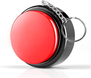 Beanlieve Recordable Sound Talking Button - Sound Button Toy With M7 Keychain, 20 Seconds Talking Button For Funny Prank & Office Trinket & Non-Verbal Students