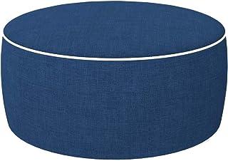 Aktive 79041 - Puff hinchable Ottoman, poliéster hilado, repele el agua, 53 x 23 cm, colonial clásico azul