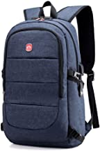 New Men Water Resistant Backpack USB Recharging Backpack Fit for 15.6 Inches Laptop with Lock