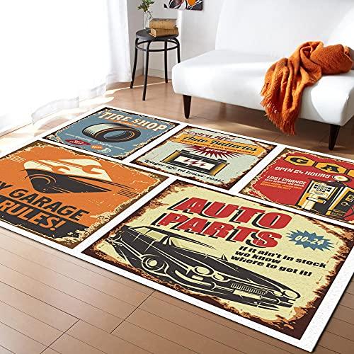 Anciennes Affiches publicitaires Tapis de Navigation de Voiture pour Chambre Moderne pour Sol de Maison Grand Tapis d