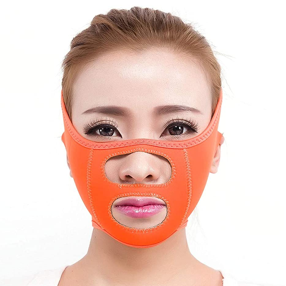 メッセンジャー好戦的な通常GYZ シンフェイスマスクシンフェイス包帯シンフェイスアーティファクトシンフェイスフェイシャルリフティングシンフェイススモールVフェイススリープシンフェイスベルト Thin Face Belt (Color : A)