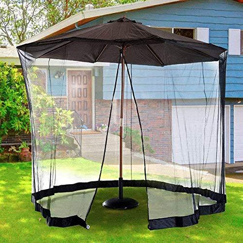 SJBD-Coaster Sombrilla de jardín, sombrilla, mosquitera, con Puerta con Cremallera y Cuerda Ajustable, se Adapta a sombrillas y mesas de Patio al Aire Libre, Malla Lavable de 300 * 230 cm