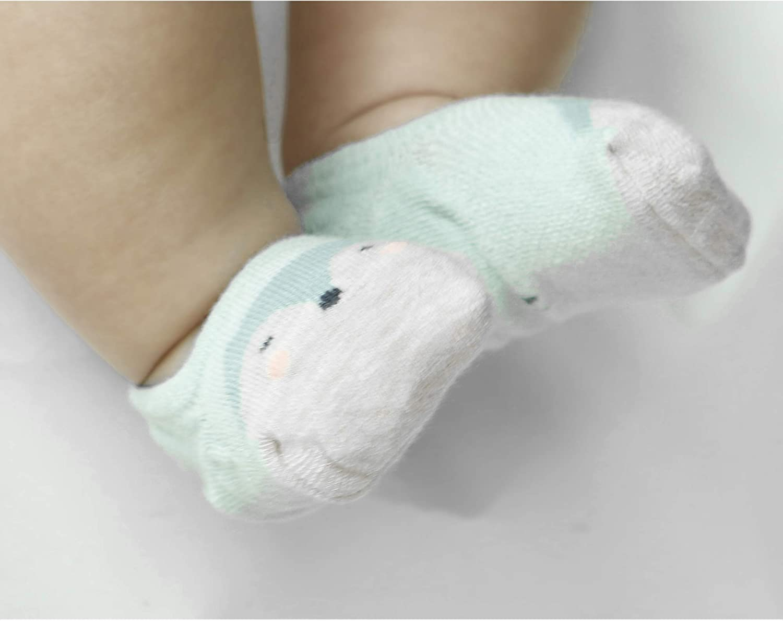 VWU 6 Pack Baby No Show Socks Toddler Low Cut Cotton Socks Animal 0-5T