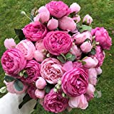 GANHUA 2018 Soie Rose Pivoine Fleurs Artificielles Beau Bouquet Flores pour la Fête De Mariage Décoration De Mariage Faux Fleurs A49B25