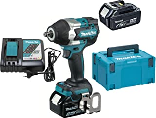 Makita DTW700RTJ 18V Li-ion LXT Brushless Impact Wrench Complete with 2 x 5.0 Ah Batteries and Charger Supplied in a Makpa...