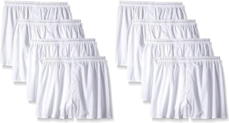 Hanes Men's White Boxers Underwear Boxer Shorts 8-Pack