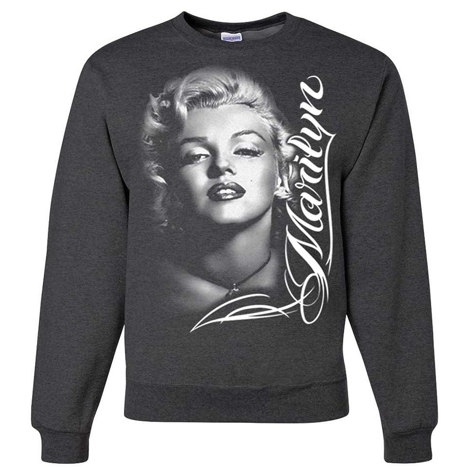 Marilyn Monroe Portrait Signature Crewneck Sweatshirt zfn082418259471