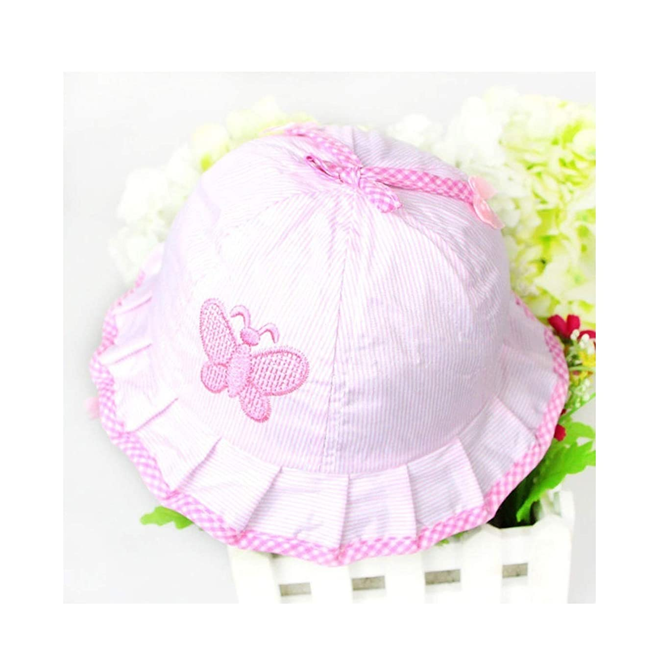 1PC Baby Hat Girl Magic Reversible Bucket Cap for 3 to 12 Months Infant Sun Hats Summer Flower Bow Knot Style