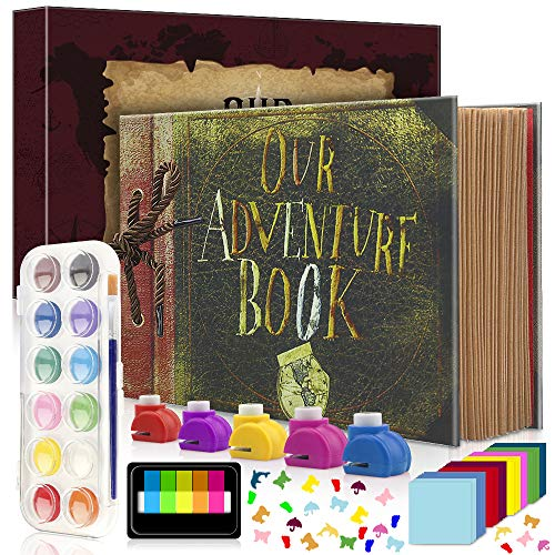 Photo Album Scrapbook, DIY Album Scrapbook Travel Scrapbook for Anniversary, Wedding, Travelling, Graduation, Holiday, Christmas Gift (Travel Scrapbook-Gift Set)