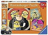 Ravensburger-4005556080168 Minions Puzzle 3 x 49 Piezas, GRU, Mi Villano Favorito, Multicolor (8016)