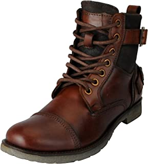FAUSTO Men's Genuine Leather High Ankle Boots