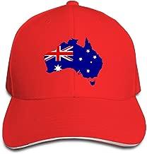 SNMHILL Men Women Australia Flag Fashion Peaked Sandwich Hat Sports Adjustable Baseball Cap Unisex