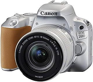 كانون كاميرا  إي او اس 200دي 18-55 اي اس اس تي ام، فضي