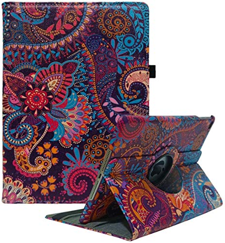 iPad Case Fit 2018/2017 iPad 9.7 6th/5th Generation - 360 Degree Rotating iPad Air Case Cover with Auto Wake/Sleep Compatible with Apple iPad 9.7 Inch 2018/2017 (National Wind)