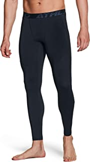 ATHLIO Mens Compression Pants Running Tights Workout Leggings, Cool Dry Technical Sports Baselayer, Single Pack(blp15) - B...